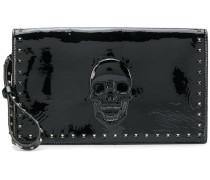 studded skull embellished clutch