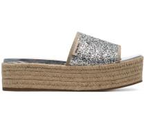 '45 Glitter' Espadrille-Pantoletten