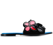 'Joyce' Sandalen mit Blumen-Patch