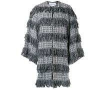 Texturierter Tweed-Mantel
