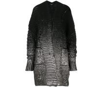 foil print chunky knit cardigan