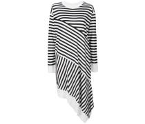 asymmetric striped sweater dress