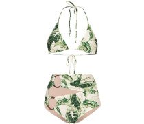 Bikini mit tropischem Print