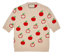 Jacquard-Pullover mit GG-Apfel
