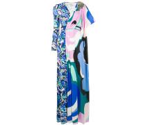 Asymmetrisches Kleid mit abstraktem Print