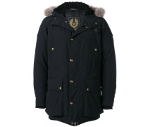 lined hood padded coat