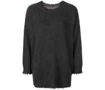 boxy distressed sweater