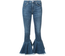 Cropped-Jeans mit Volant