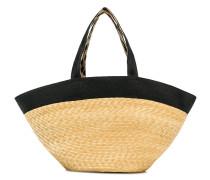 Handtasche mit kontrastfarbigem Band