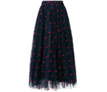 P.A.R.O.S.H. lip embroidered tulle skirt