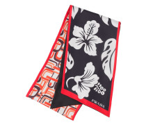 Double Match printed scarf