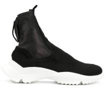 zipped sneaker boots