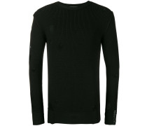 destroyed ribbed knit sweater