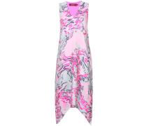 Besticktes Kleid mit Print