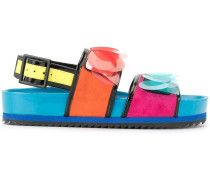 'Jean' Sandalen in Colour-Block-Optik