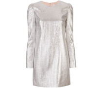 Kleid in Metallic-Optik