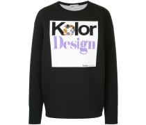 Sweatshirt mit verziertem Print