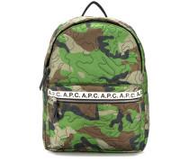 A.P.C. Rucksack mit Camouflage-Print
