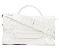 embroided style shoulder bag