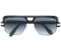Pilotenbrille mit eckigen Kanten