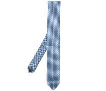 Krawatte mit aufgesticktem Kreismuster