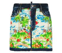 Hawaiian print mini skirt