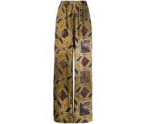 Hose mit geometrischem Print
