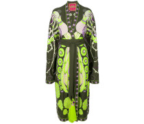 Firebird embroidered kimono dress