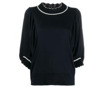 Pullover mit Kontrastsaum