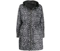 Gefütterte Jacke mit Leoparden-Print