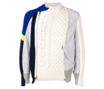 Pullover in Patchwork-Optik