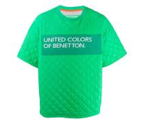 Gestepptes T-Shirt mit Logo