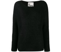 ribbed knit slouchy sweater