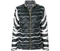 zebra print puffer jacket