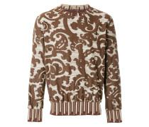 baroque jacquard sweatshirt