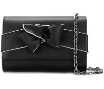 contrast bow clutch bag