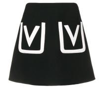 Minirock mit V-Tasche