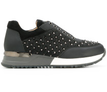 studded low-top sneakers