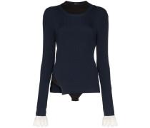 lace-embellished bodysuit jumper