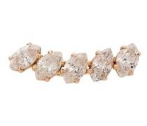 18kt Rotgoldohrring mit Diamanten
