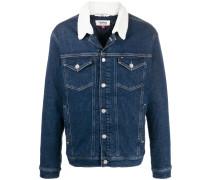 Jeansjacke mit Kontrastkragen
