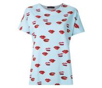 Bedrucktes T-Shirt mit Fledermausärmeln