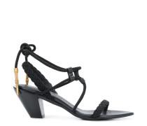 braided trim sandals