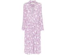 Langärmeliges Kleid mit Paisley-Print