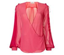 V-neck flared blouse