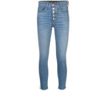 stripe detail skinny jeans