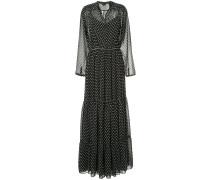 polka dot print maxi dress