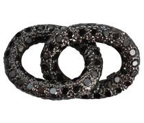 Mit schwarzen Diamanten besetztes Armbandelement aus Gold