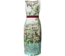Kleid mit Landschaft-Print