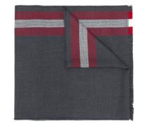 striped border scarf